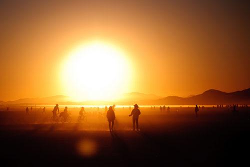 люди и солнце